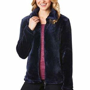 32 Degrees Women's Plush Faux Fur Full Zip Jacket